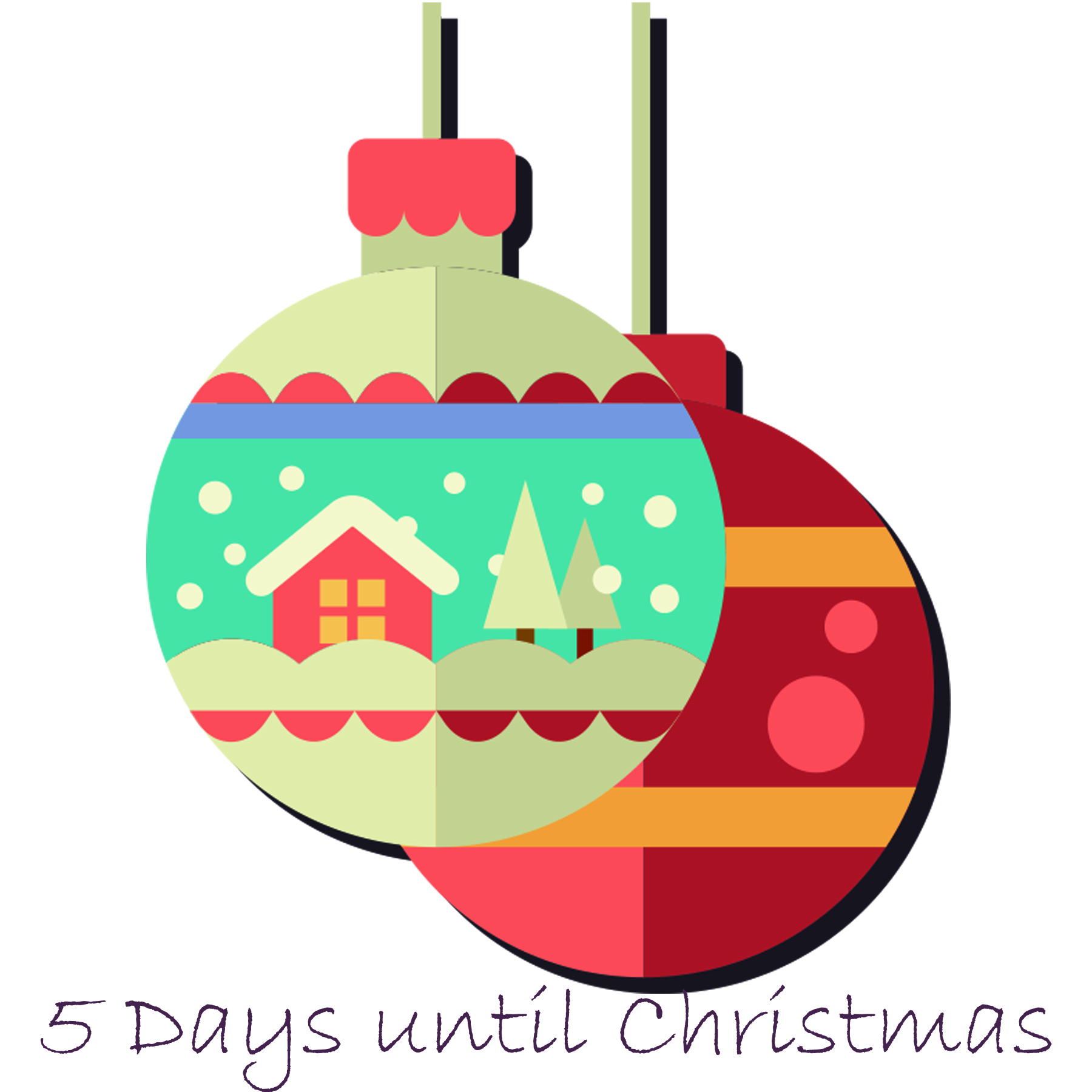 Days Until Christmas.5 Days Until Christmas Aloha Overstock