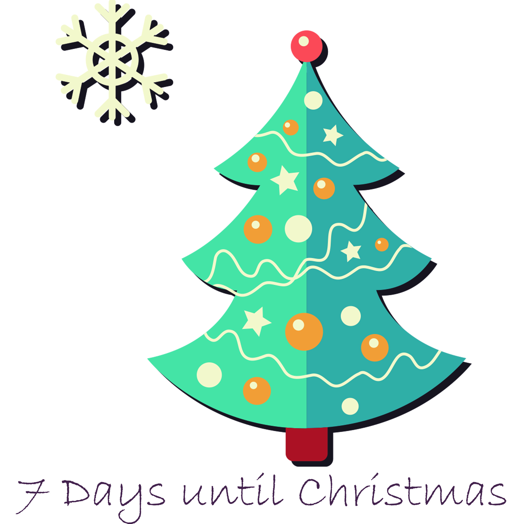 Days Until Christmas.7 Days Until Christmas Aloha Overstock
